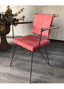 Cafe Kollu Metal Sandalye nsn41