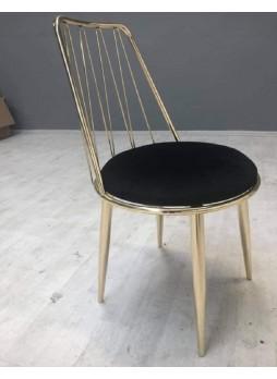 Cafe Sandalye Altın Krom Ayaklı nsn47