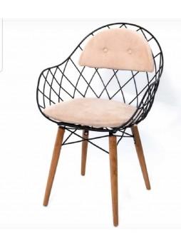 Modern Cafe Sandalye Metal nsn43